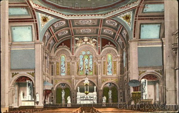 Interior Of Cathedral Of The Blessed Sage Sacramento California