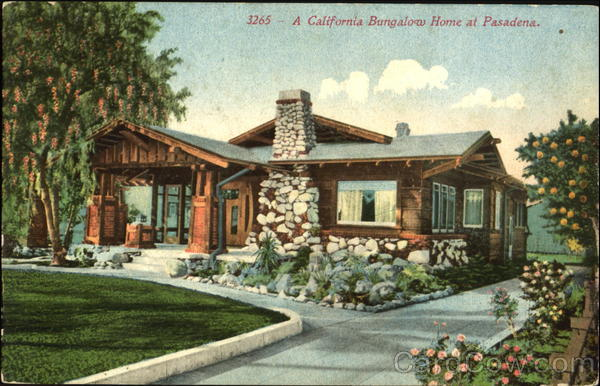 A California Bungalow Home At Pasadena