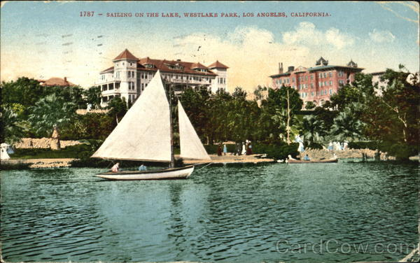 Sailing On The Lake, Westlake Park Los Angeles California