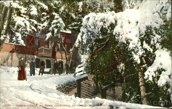 Alpine Tavern In Winter Mount Lowe California