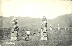 Stone Figures on the way to the Ming-Tomb Postcard