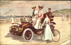 Women with Car & Bicycle