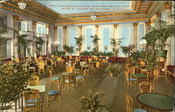 Colonial Ball Room Arranged For Card Party, Hotel St. Francis