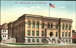 Hall Of Justice Postcard