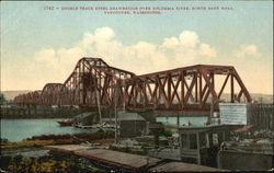 Double Track Steel Drawbridge Over Columbia River, North Bank Road