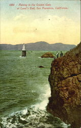 Fishing In The Golden Gate At Land's End Postcard