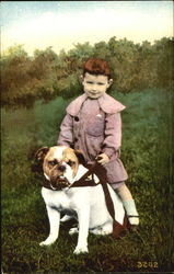 Boy riding a Bulldog