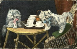 Cats Having Tea