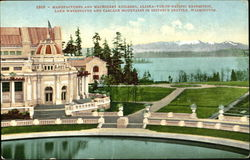 Manufactures And Machinery Building Alaska-Yukon-Pacific Exposition Postcard