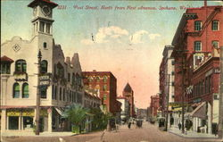 Post Street, North from First Avenue Postcard