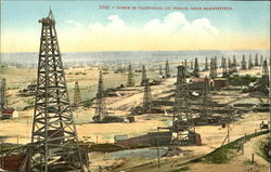 Scene In California Oil Fields