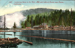 Lumbering Scene In The West Mill And Lake At Shaver