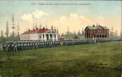 Dress Parade Fort Lawton Postcard