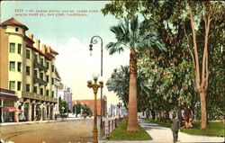 St. James Hotel And St. James Park, North First St Postcard