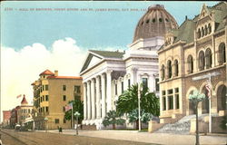 Hall Of Records Court House And St. James Hotel Postcard