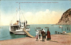 Glass Bottom Boat, Avalon Postcard