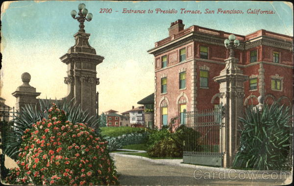 Entrance To Presidio Terrace San Francisco California