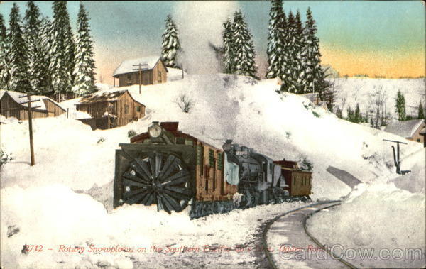 Rotary Snowplow On The Southern Pacific Co's Lane, Ogden Route