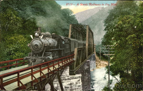 A Scenic Railway In The West Railroad (Scenic)