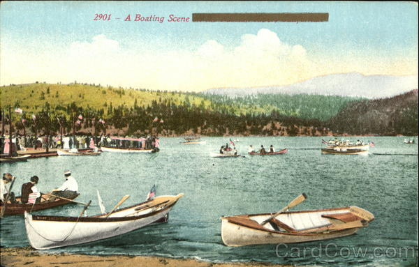 A Boating Scene Canoes & Rowboats