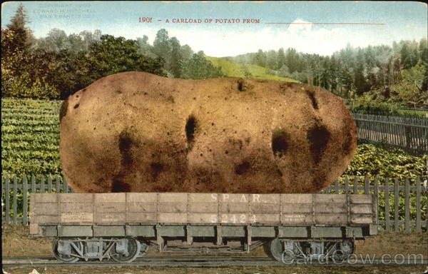 A Carload Of Potato Vegetables Exaggeration