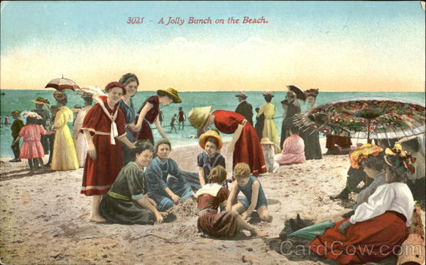 A Jolly Bunch On The Beach Swimsuits & Pinup