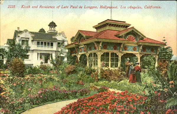 Kiosk And Residence Of Late Paul De Longpre Hollywood Los Angeles California
