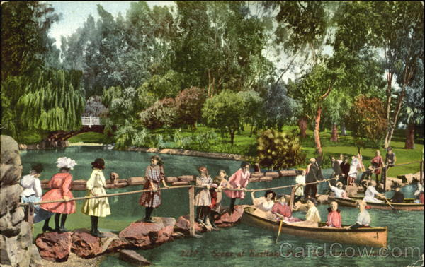 Scene At Eastlake Park Los Angeles California