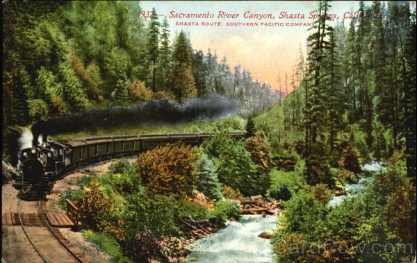 Sacramento River Canyon Shasta Springs California