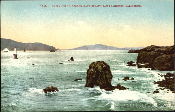 Entrance To Golden Gate Strait San Francisco California