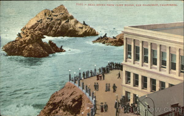 Seal Rock From Cliff House San Francisco California