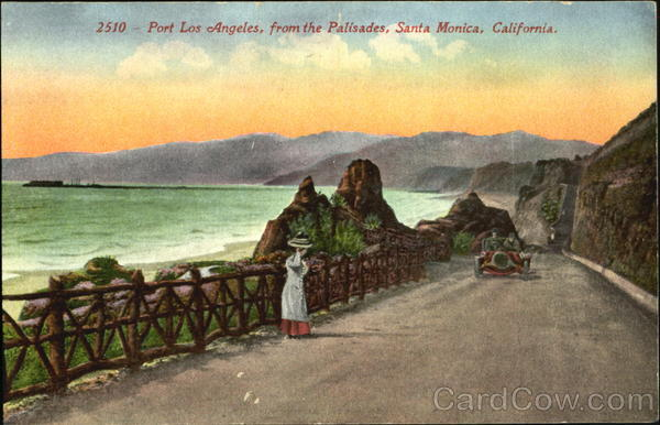 Port Los Angeles From The Palisades Santa Monica California