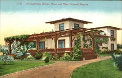 A California Winter Home And Vine Covered Pergola