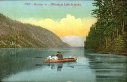 Boating On A Mountain Lake