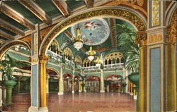 Hall Of The Dogs, Davenport's Restaurant Postcard