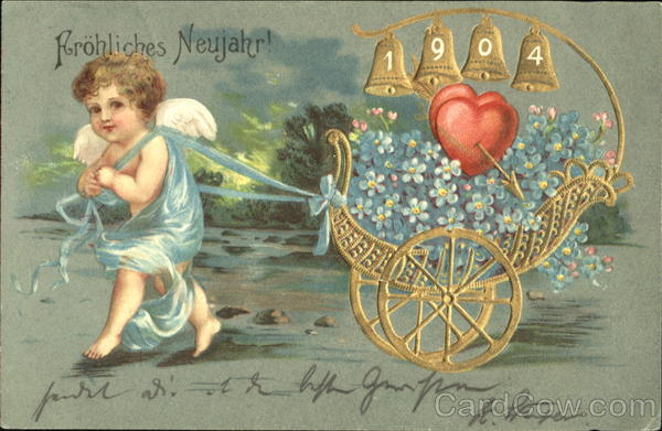 Arohliches Neujahr! 1904 Angels & Cherubs