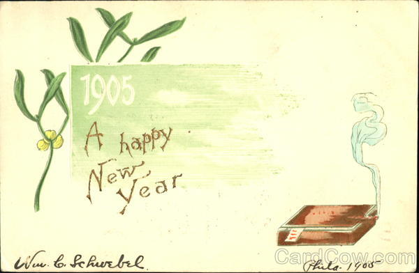 1905 A Happy New Year New Year's