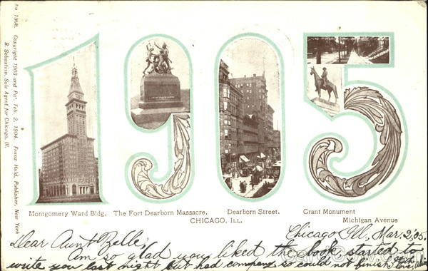 1905 Chicago Illinois Large Letter Dates