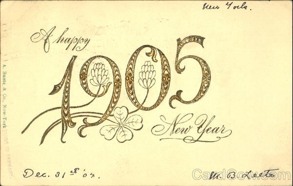 A Happy 1905 New Year New Year's