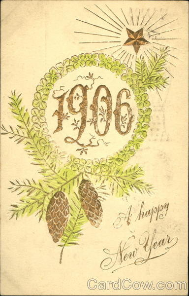 1906 A Happy New Year New Year's