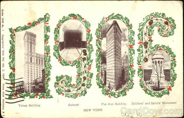 1906 New York Large Letter Dates
