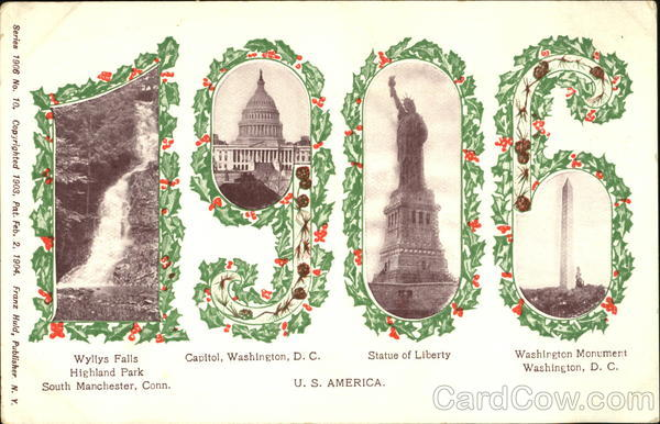 1906 New Year's Large Letter Dates
