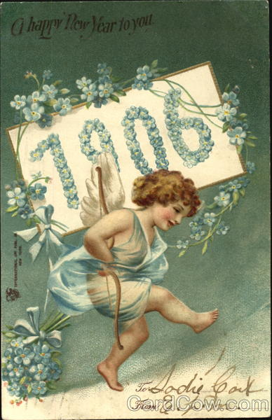 A Happy New Year To You 1906 Angels & Cherubs