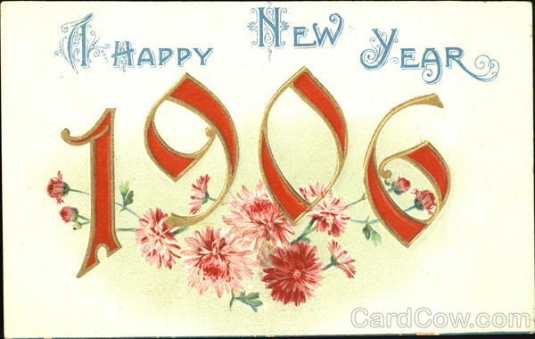A Happy New Year 1906 New Year's
