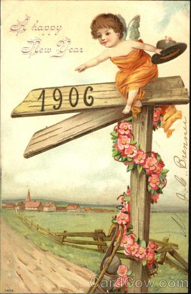 A Happy New Year 1906 Angels & Cherubs