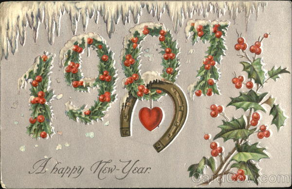 1907 A Happy New Year Year Dates