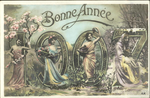 Bonne Annee 1907 Year Dates