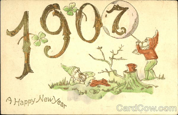 1907 A Happy New Year Elves