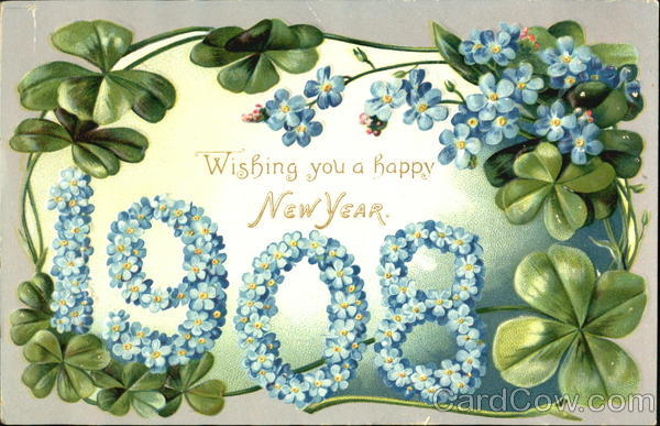 1908 A Happy New Year To You Year Dates