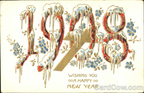 1908 Wishing You A Happy New Year Year Dates